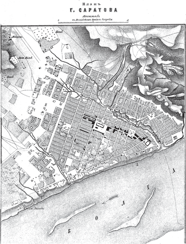 Генплан города Саратова на 1876 год