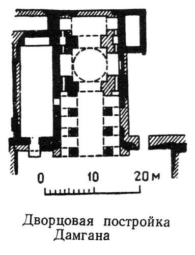 Дворцовая постройка Дамгана, план