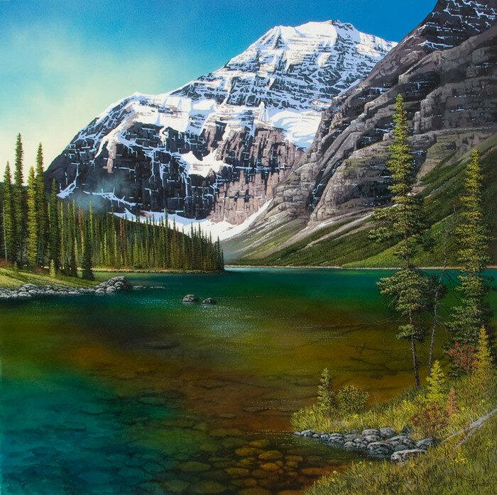 В горных озерах бездонных. Канадский художник Roger D. Arndt