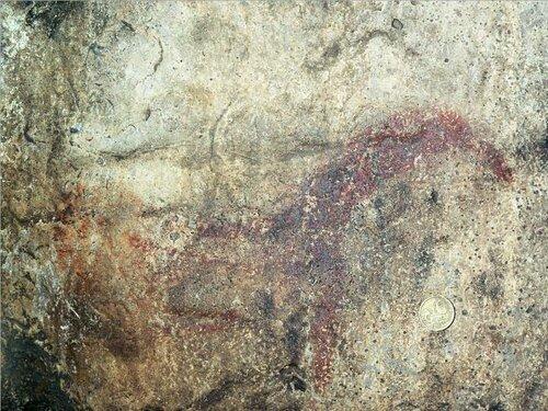 Наскальные рисунки вИгнатьевской пещере