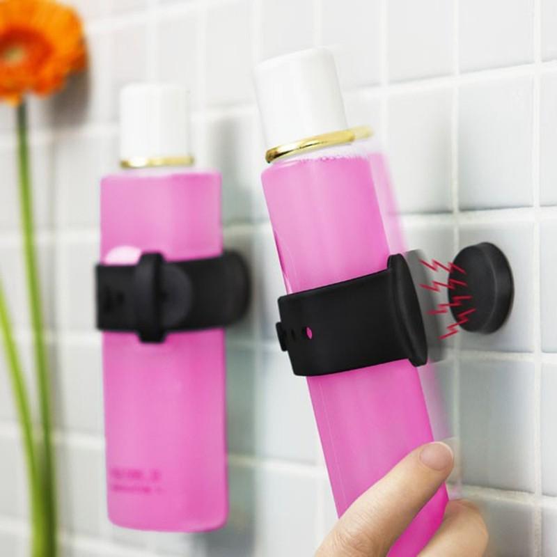 8. Магнитные держатели для шампуня (© fancy) Избавят от беспорядка, а тюбики будут всегда под рукой.