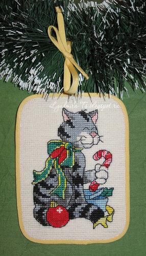 Рождественские коты (Dimensions), Рождественские коты, Dimensions, елочные игрушки, елочные украшения, игрушки на елку своими руками, новогодние котики, новогодние коты, кот с подарками, кот Санта, Кот играется, кот с мышкой поют, кот на коньках, серый кот, полосатый кот, кот с бантом