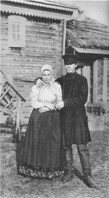Молодая крестьянская чета. 1900-е гг.