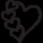 картинка черно белая сердце
