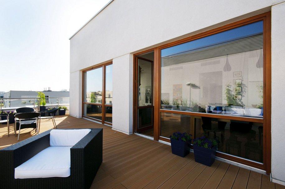 Пентхаус с большим балконом в Варшаве от HOLA Design
