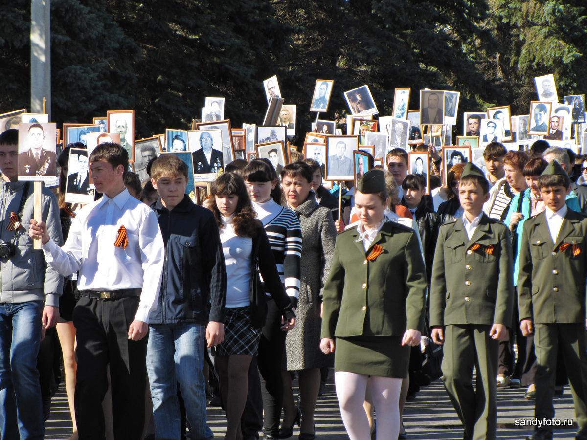 Парад Победы 9 мая 2013 в Троицке (Челябинская область)