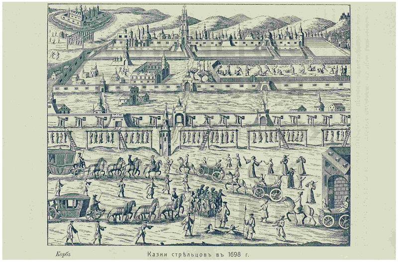 Казни стрельцов. 1698