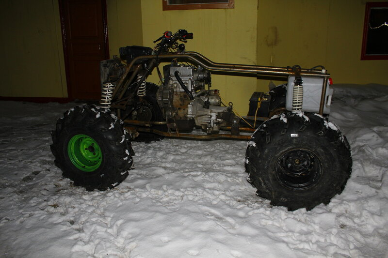 Квадроцикла своими руками 4х4 с двигателем 2106