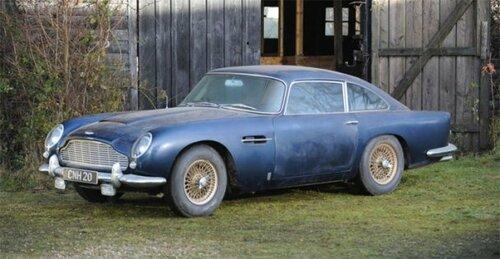 Раритетный Aston Martin из глухого сарая