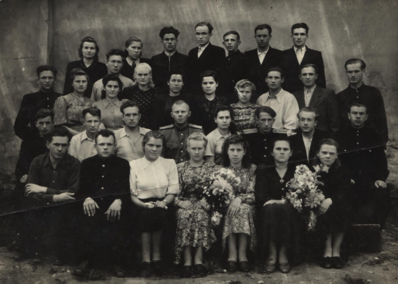 1954. Дорожно-техническая школа Калининской дороги на станции Ржев