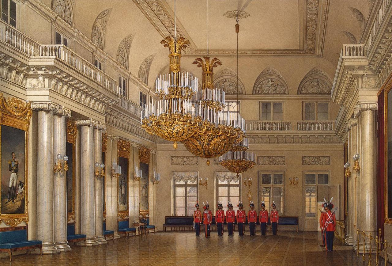 Интерьеры Зимнего дворца. Большой фельдмаршальский зал