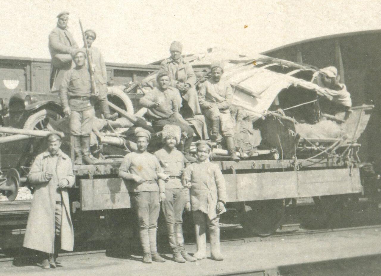 на железнодорожной линии Батуми-Тифлис. апрель 1918
