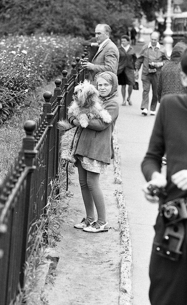 Девочка со своей собакой, Ленинград