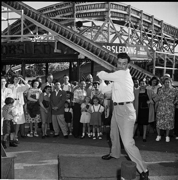 1946. Парк развлечений Палисейдс.  Сила удара