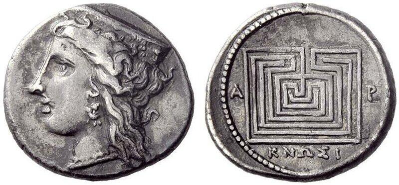 Greek Drachm from Cnossus, Crete c. 330 - 300 BC