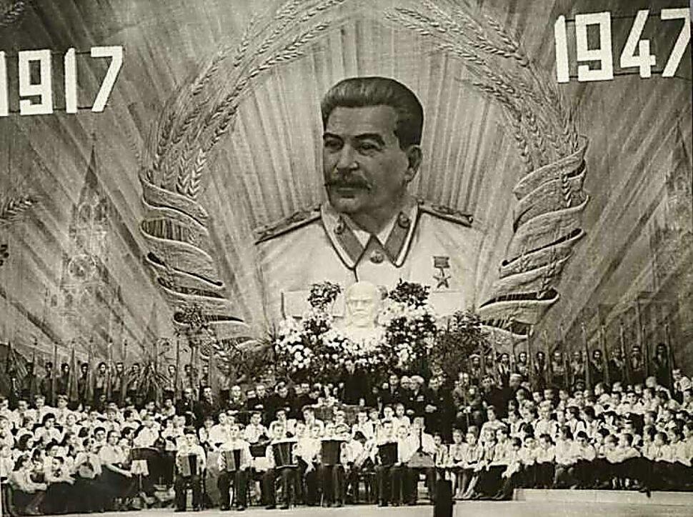 Празднование тридцатилетия Великой Октябрьской Социалистической революции в Большом Театре.