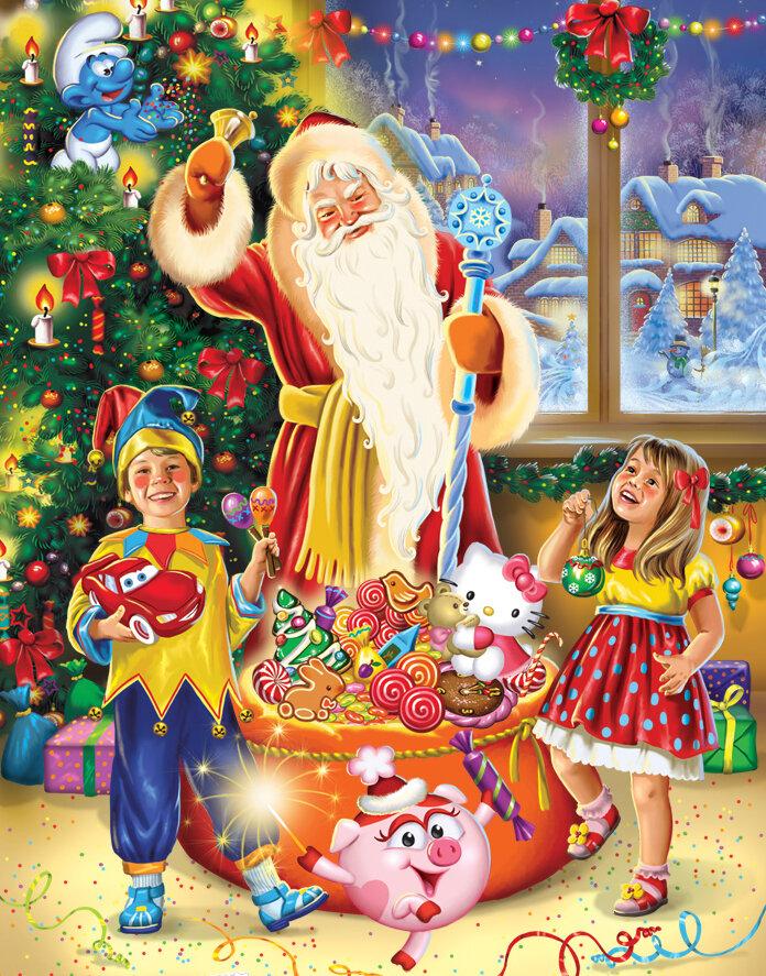 Картинки тема новый год для детей, днем рождения музыкальная