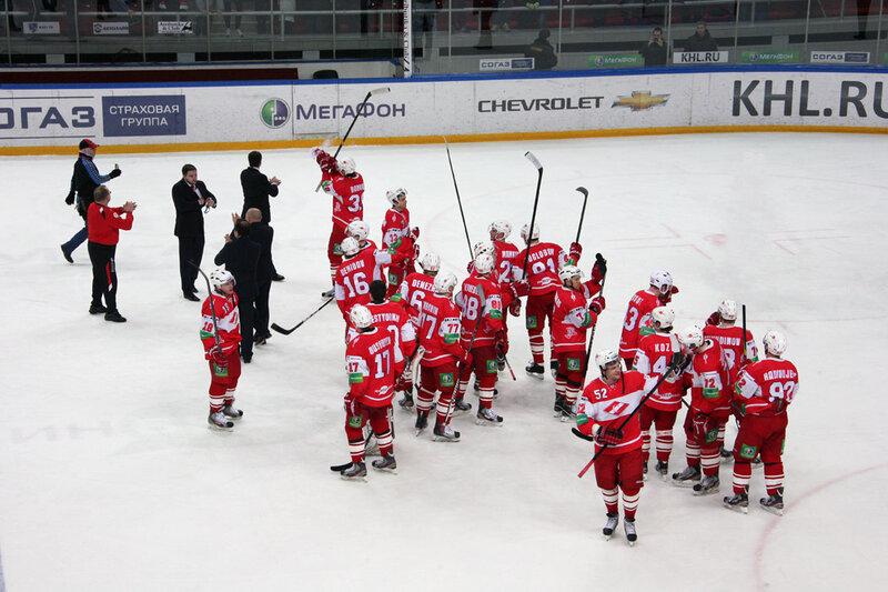 «Спартак» vs ЦСКА 4:2 чемпионат КХЛ 2012-2013 (Фото)