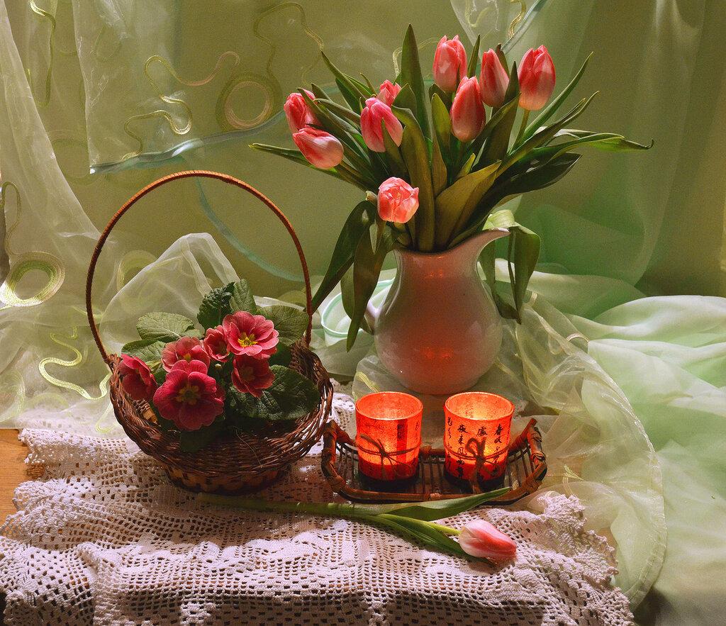 Цветов весенних акварель...