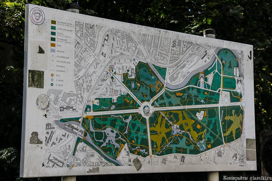 План парка Большой Тиргартен.