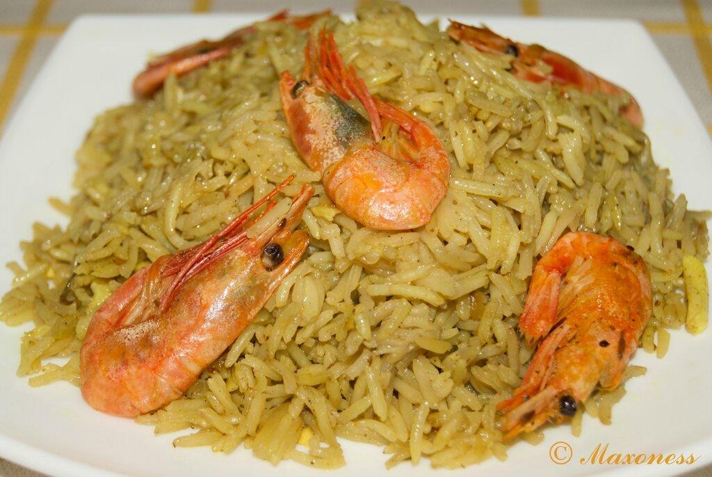 Плов с креветками. Индийская кухня