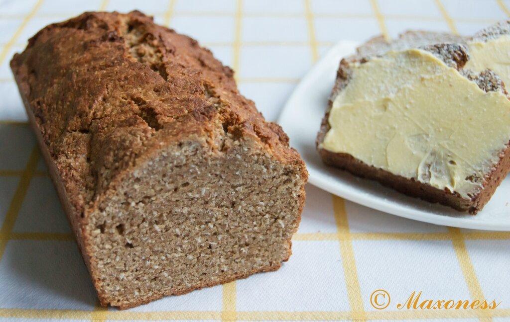 Кокосовый хлеб из цельнозерновой муки
