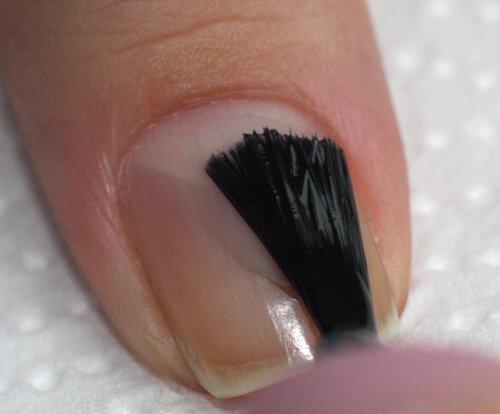 Фото торец ногтя
