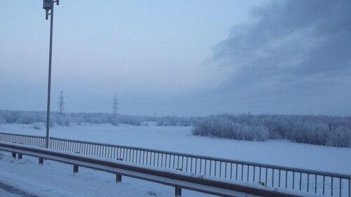 Фото города Инта №2485  Вид на реку по восточную сторону моста ТЭЦ 06.01.2013_13:44