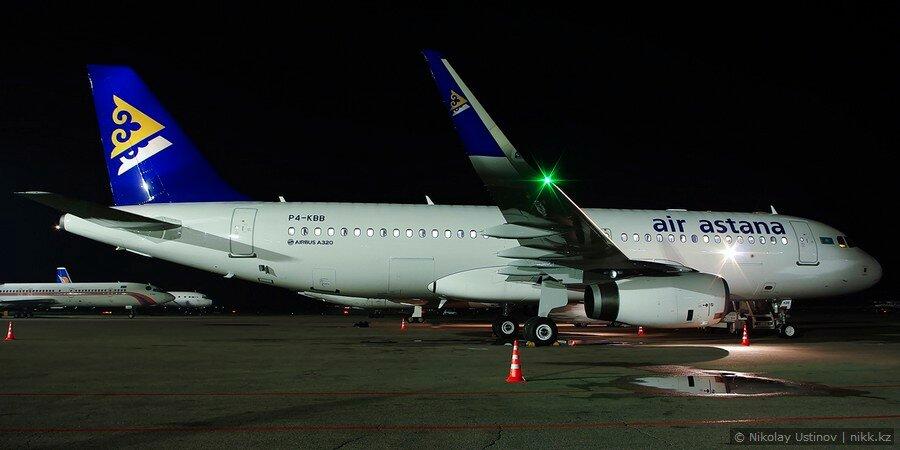 Air Astana Airbus A320 P4-KBB
