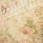 Vintage floral damask scrapbook background or paper overlay