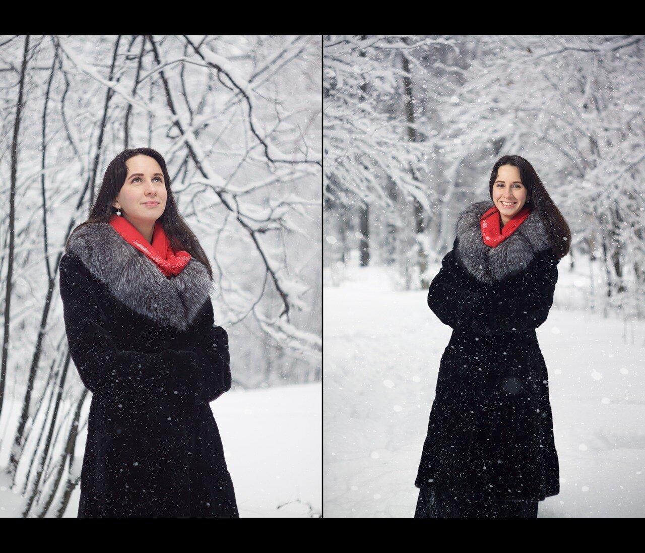 Ксения - фотография зимой