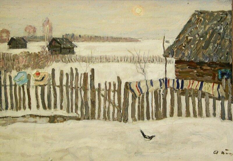 Алексей Петрович Ткачев. 1925 г.р.Зимняя гостья