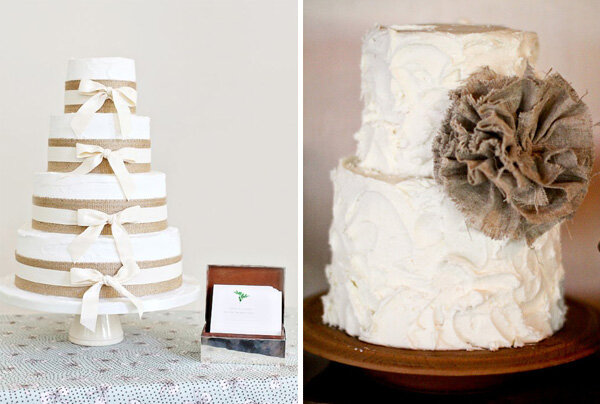 Мешковина в оформлении свадьбы