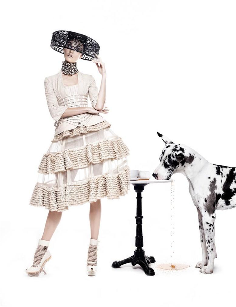 модель Карли Клосс / Karlie Kloss, фотограф Walter Chin