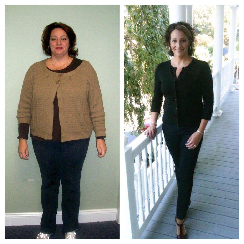 Борьба с лишним весом: до и после