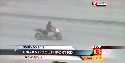 Американский журналист, мотоцикл Урал и снежная буря