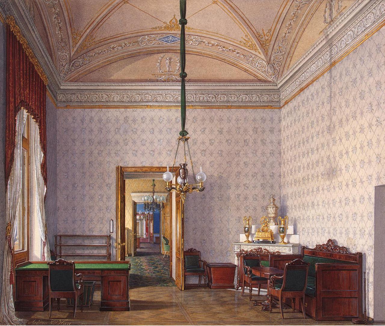 Интерьеры Зимнего дворца. Комната для гостей