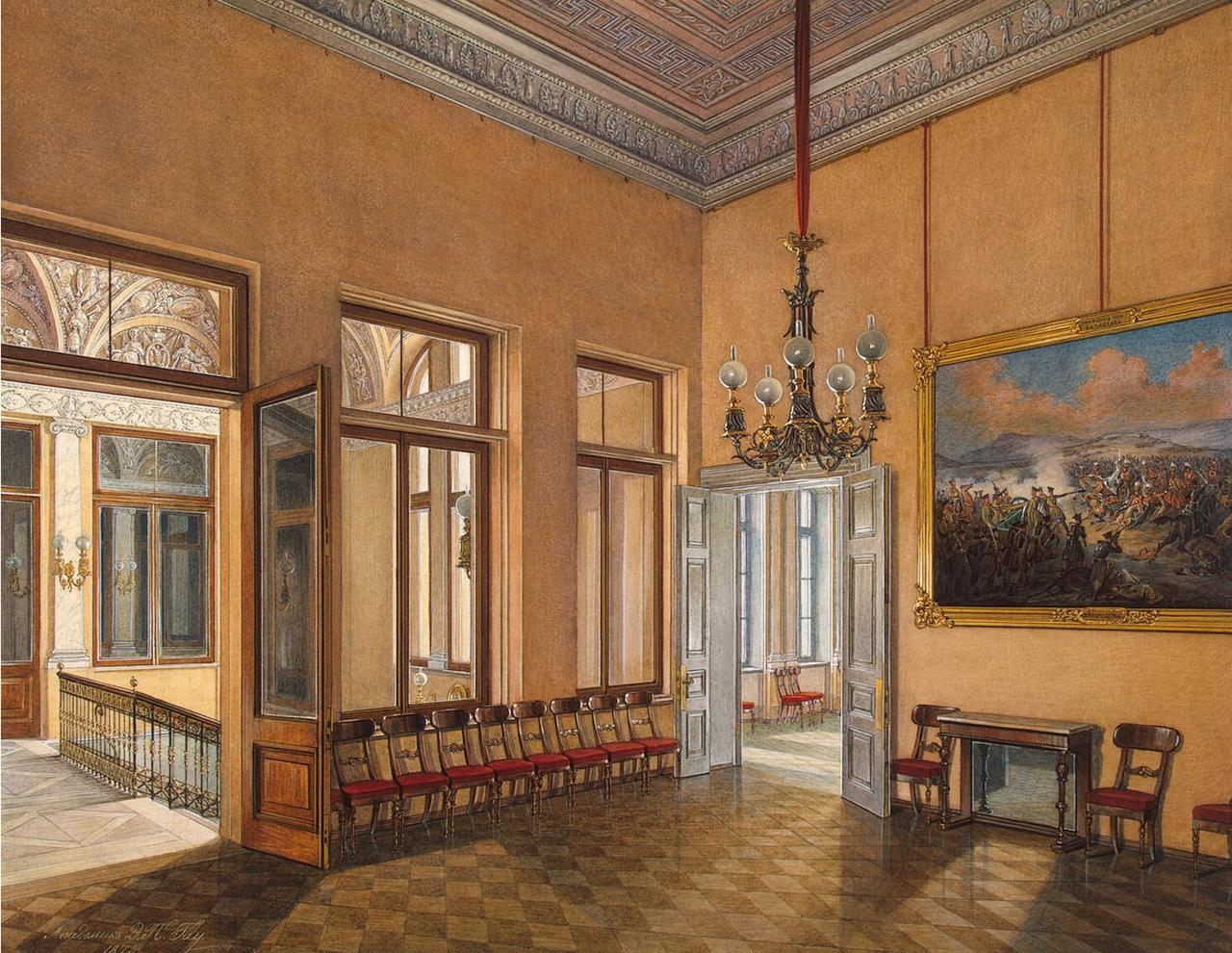 Интерьеры Зимнего дворца. Вход в частные аппартаменты императрицы Марии Александровны