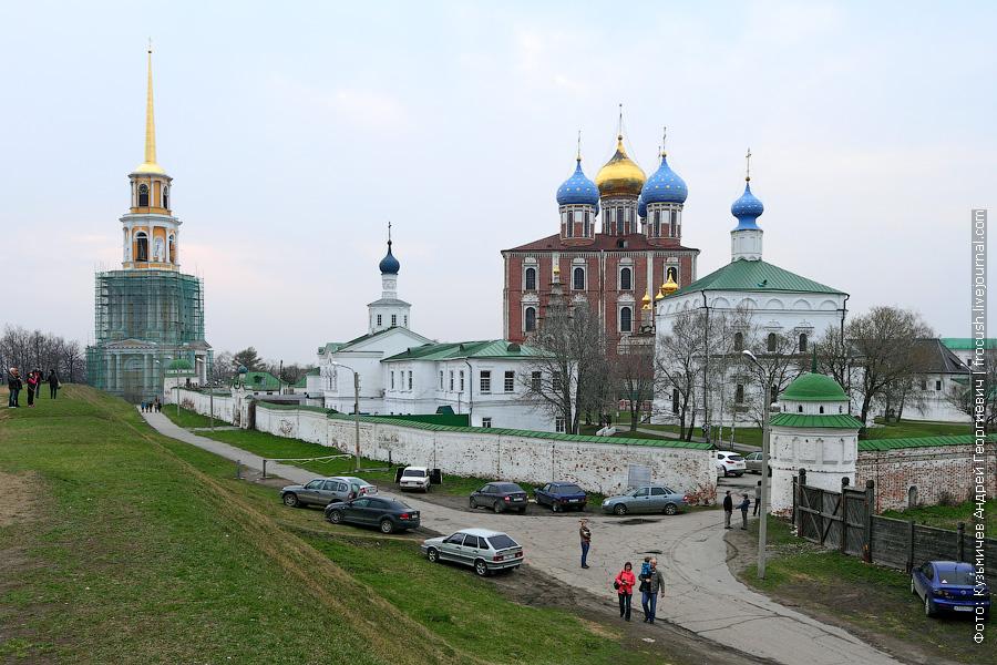 Вид на Рязанский кремль к Кремлевского вала