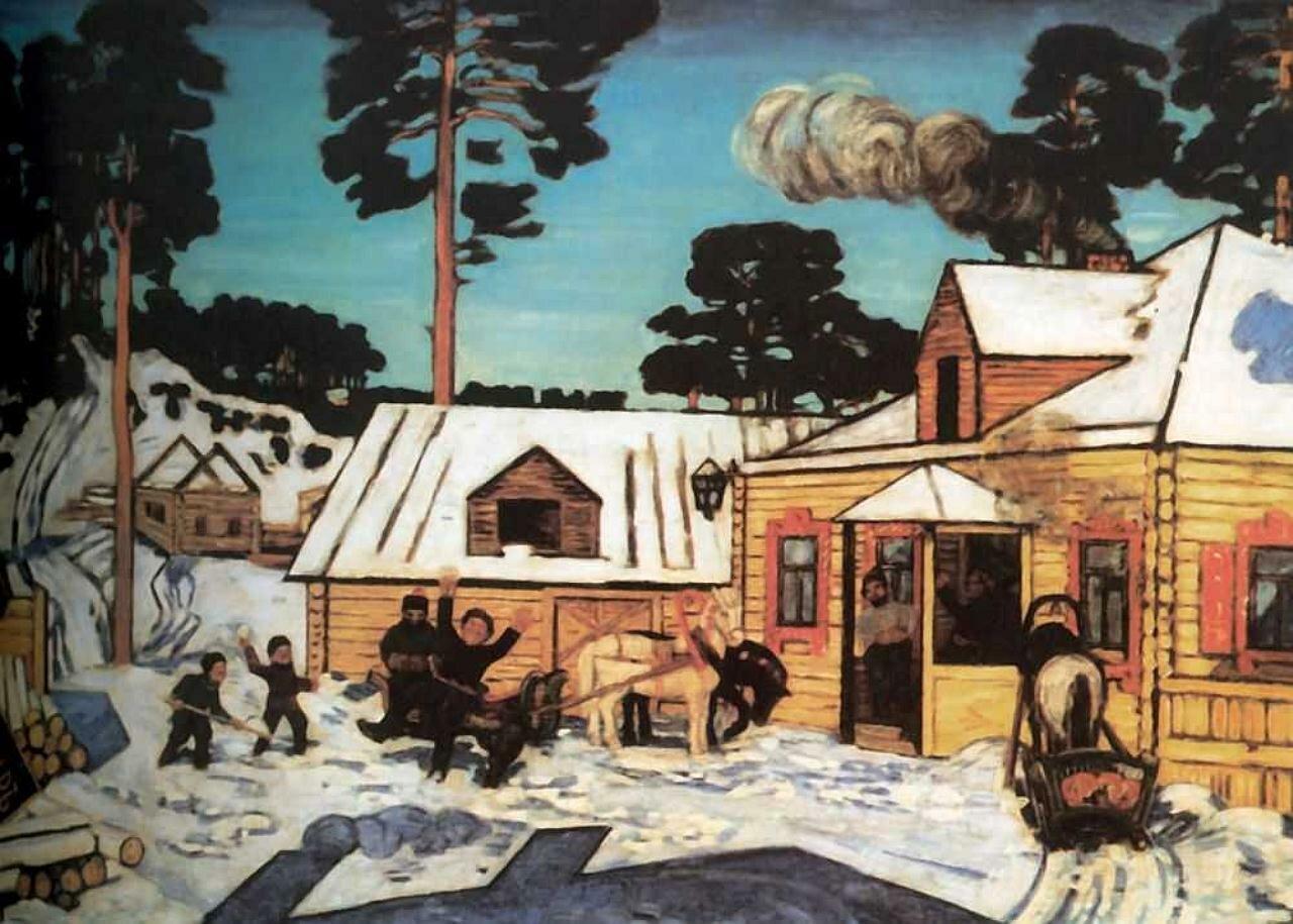 Крымов Н. Новый трактир. 1909г.
