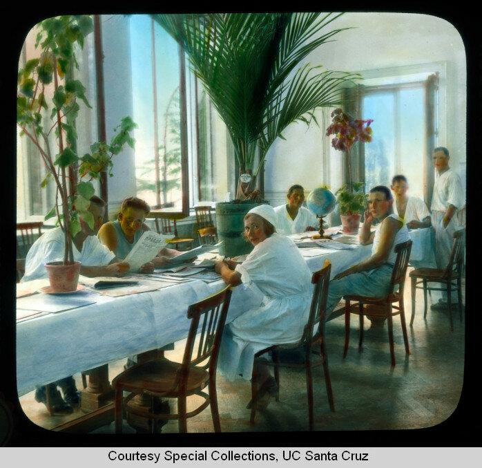 Рабоче-крестьянский отдых в царском дворце. Ялта, 1931 г.