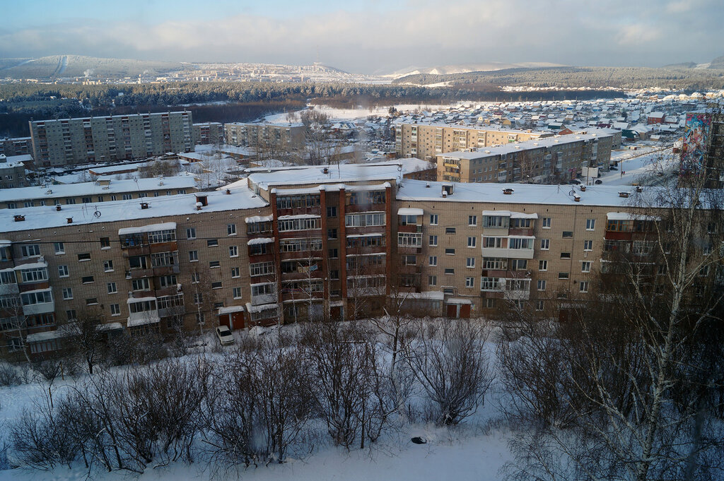 Город Златоуст. Зима. Январь
