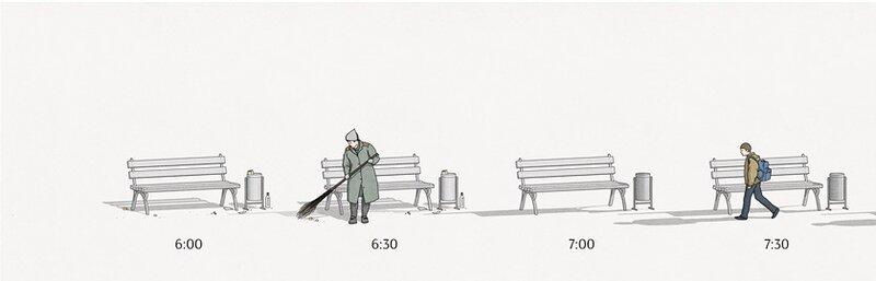 Комикс: История одной скамейки