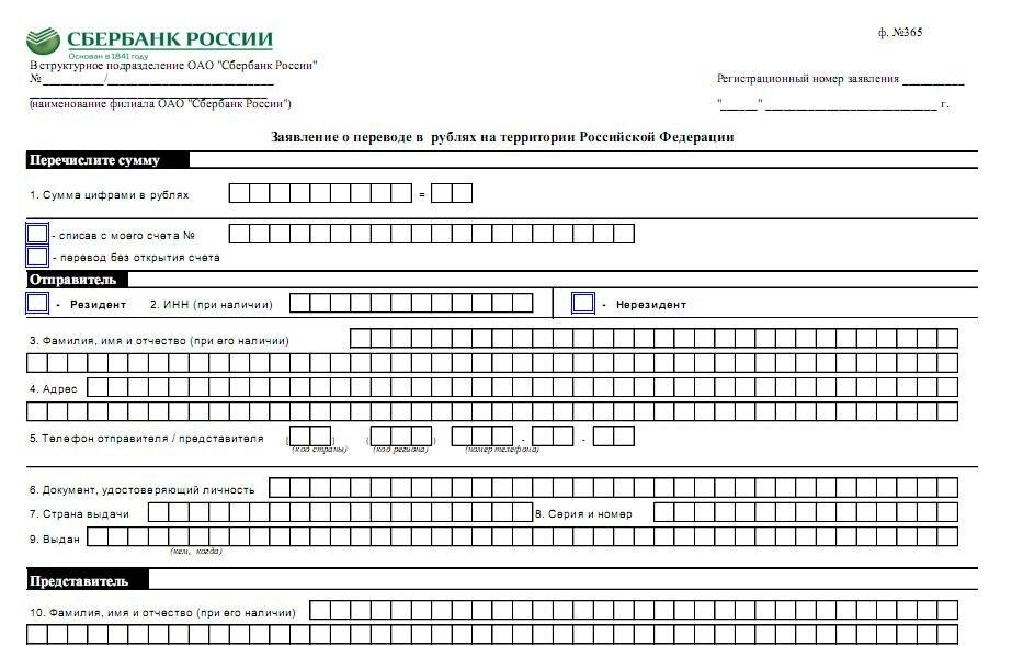 Сбербанк заявление о закрытии расчетного счета - 7996