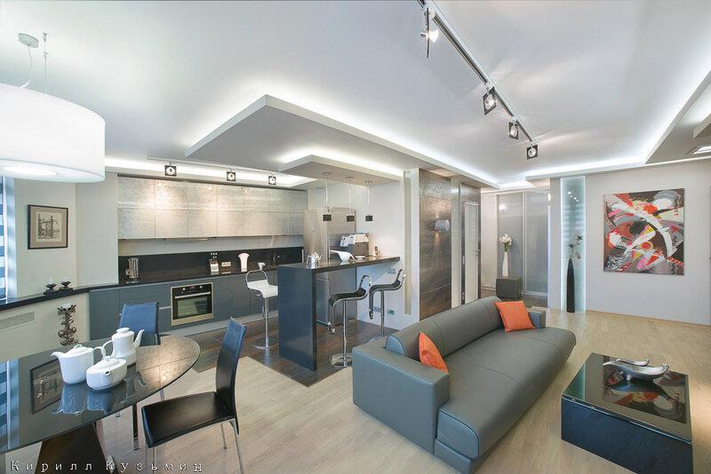 Фото дизайна квартир свободной планировки