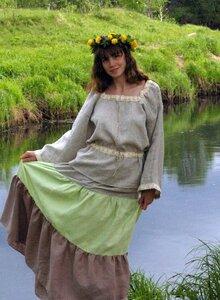 Как сшить славянское женское платье