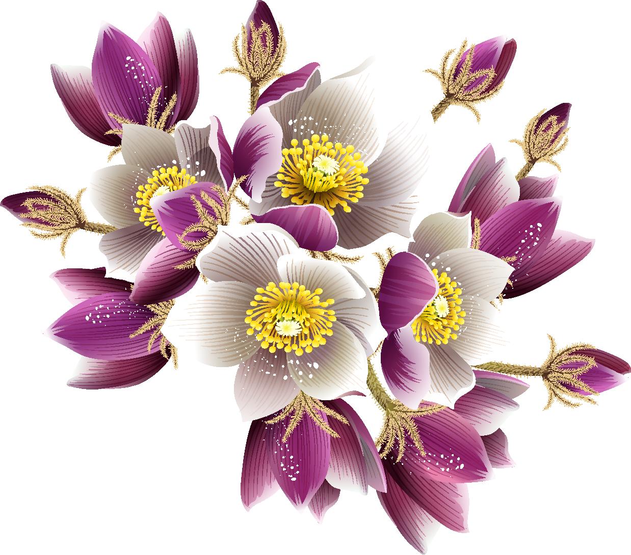 Рисованные картинки цветов