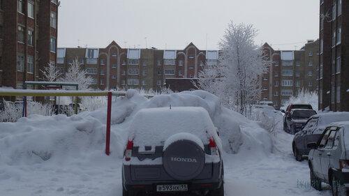 Фото города Инта №3504  Морозова 8, Куратова 74 и Морозова 6 10.02.2013_12:06