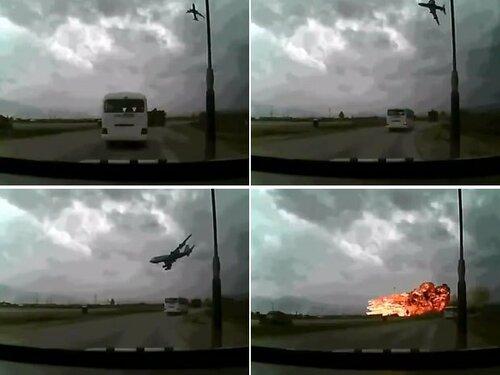 Видеорегистратор снял крушение самолёта