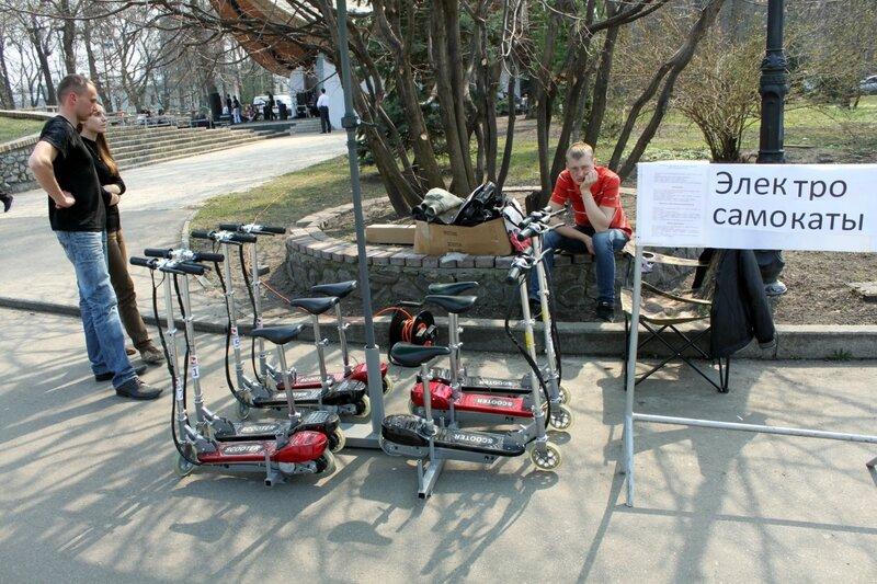 Прокат электро-самокатов в Мариинском парке